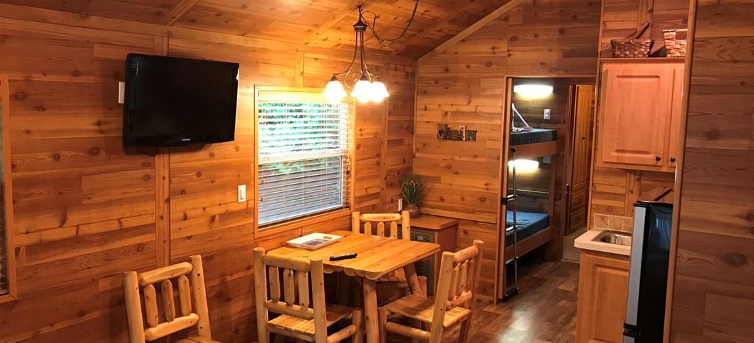 "Camping Lodge ""C"" Living/Kitchen/bunks"