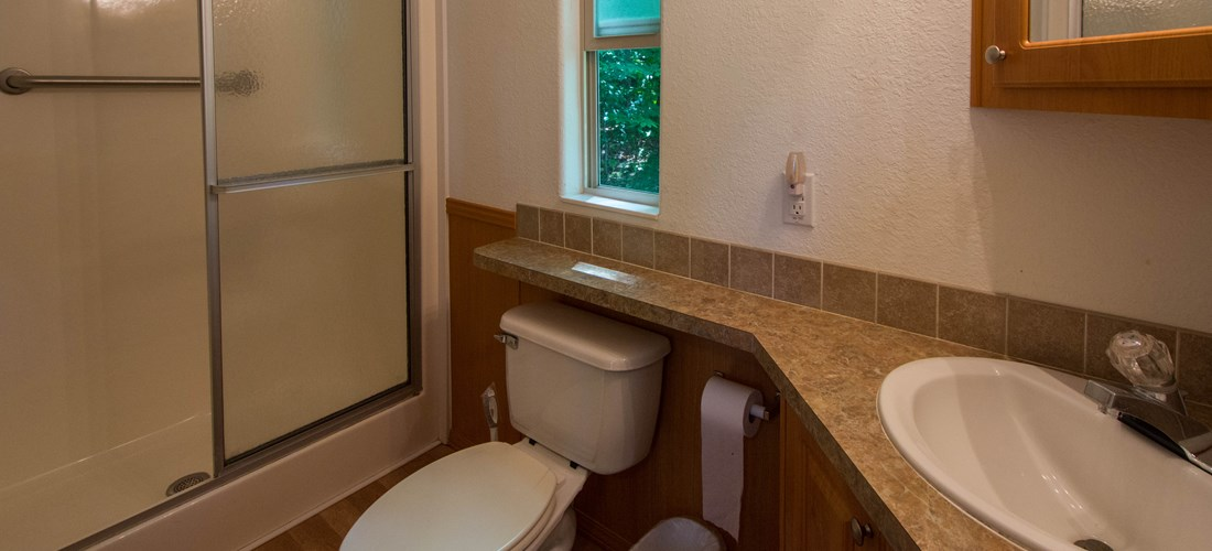 "Camping Lodge ""A"" Bathroom"