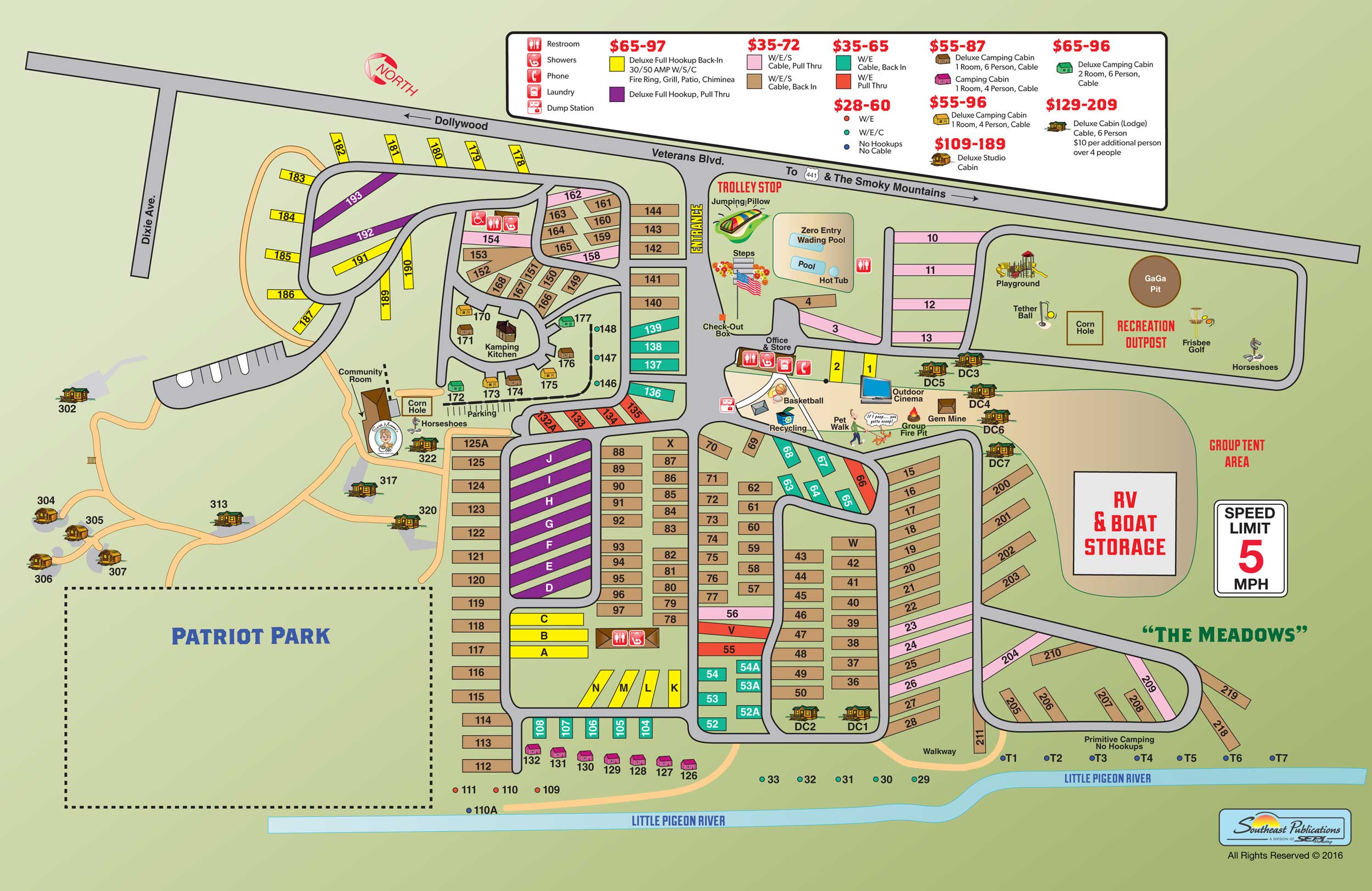 Pigeon Forge Tennessee Campground Pigeon Forge Gatlinburg KOA - Koa us map