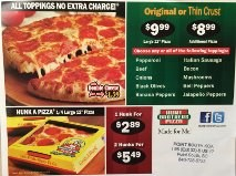 Pizza & Wings delivered to you ~ hot & fresh