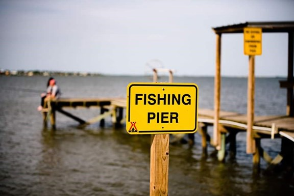 Fishing From the Pier or Directly from the Bayshore