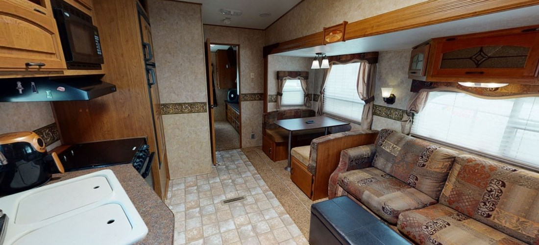 Kitchen, Living , dining area in rental RV