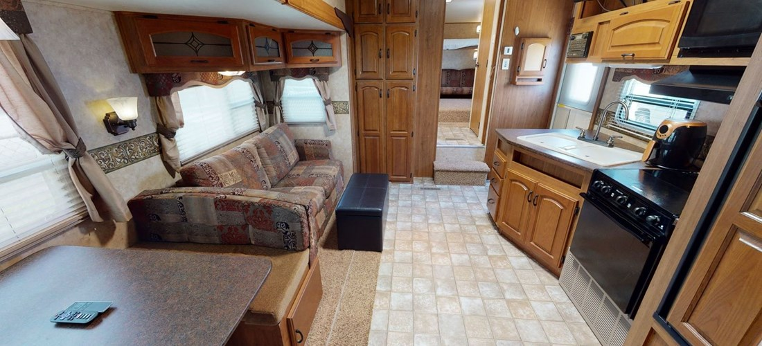 Living/Kitchen Area in Rv Rental