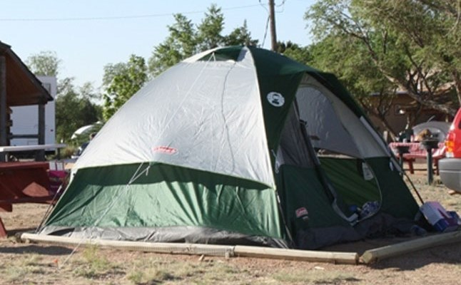 Tent with pad