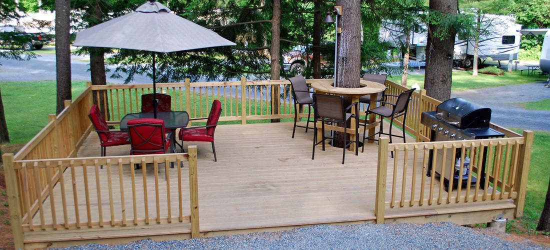 All Set Up To Relax...It Just Needs You! Patio Site #20