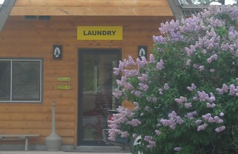 We have 2 spacious laundries