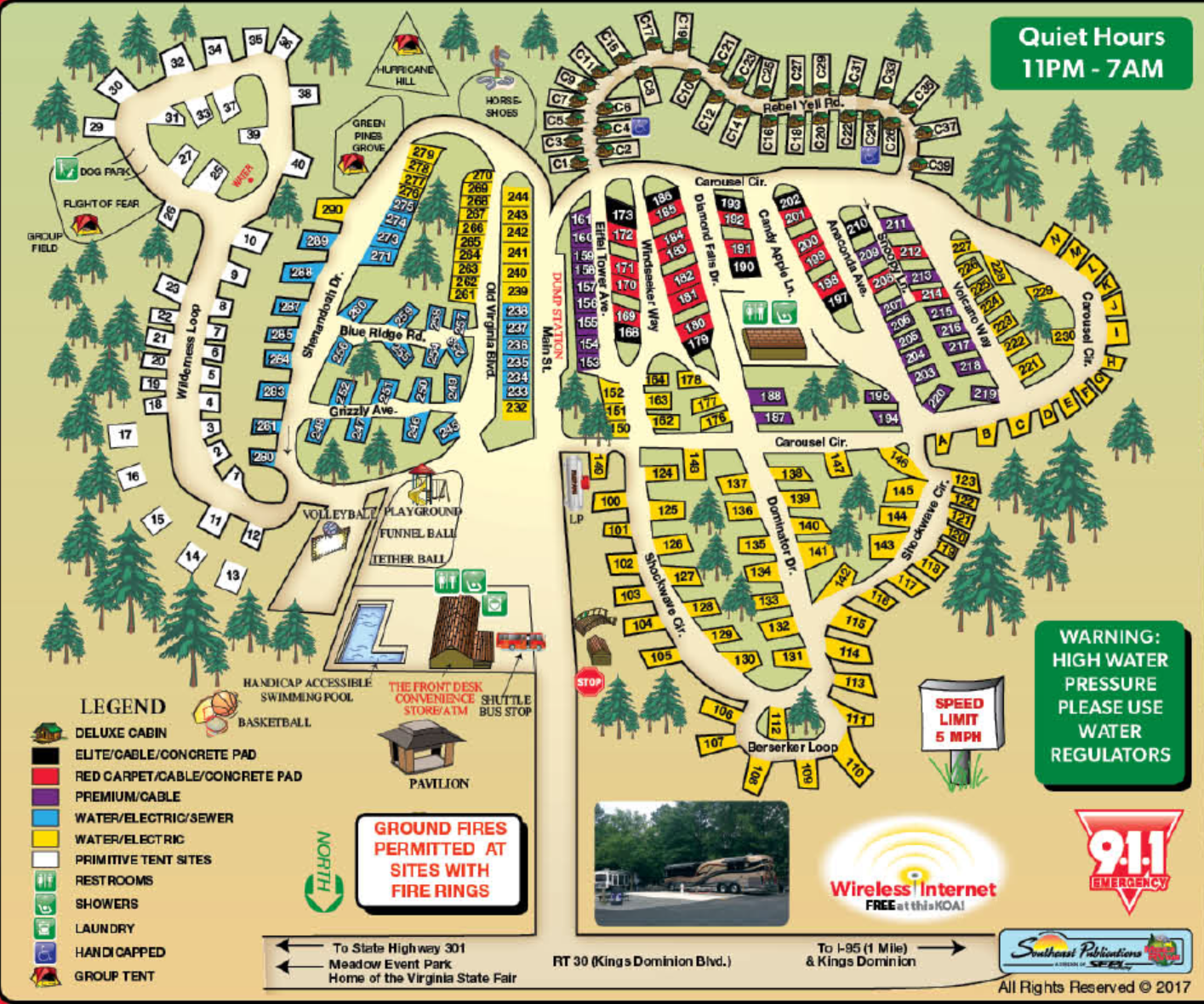 Doswell Virginia Campground Richmond North Kings Dominion KOA - Koa us map