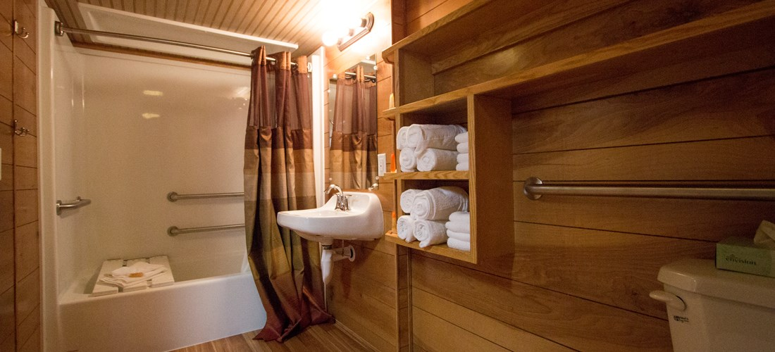 DELUXE CABIN BATHROOM - ADA