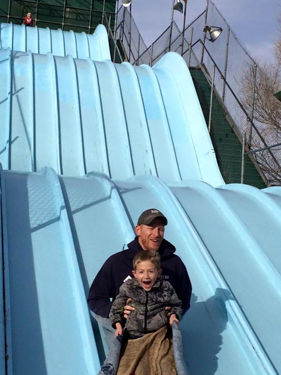 Giant, huge and impossibly large slide