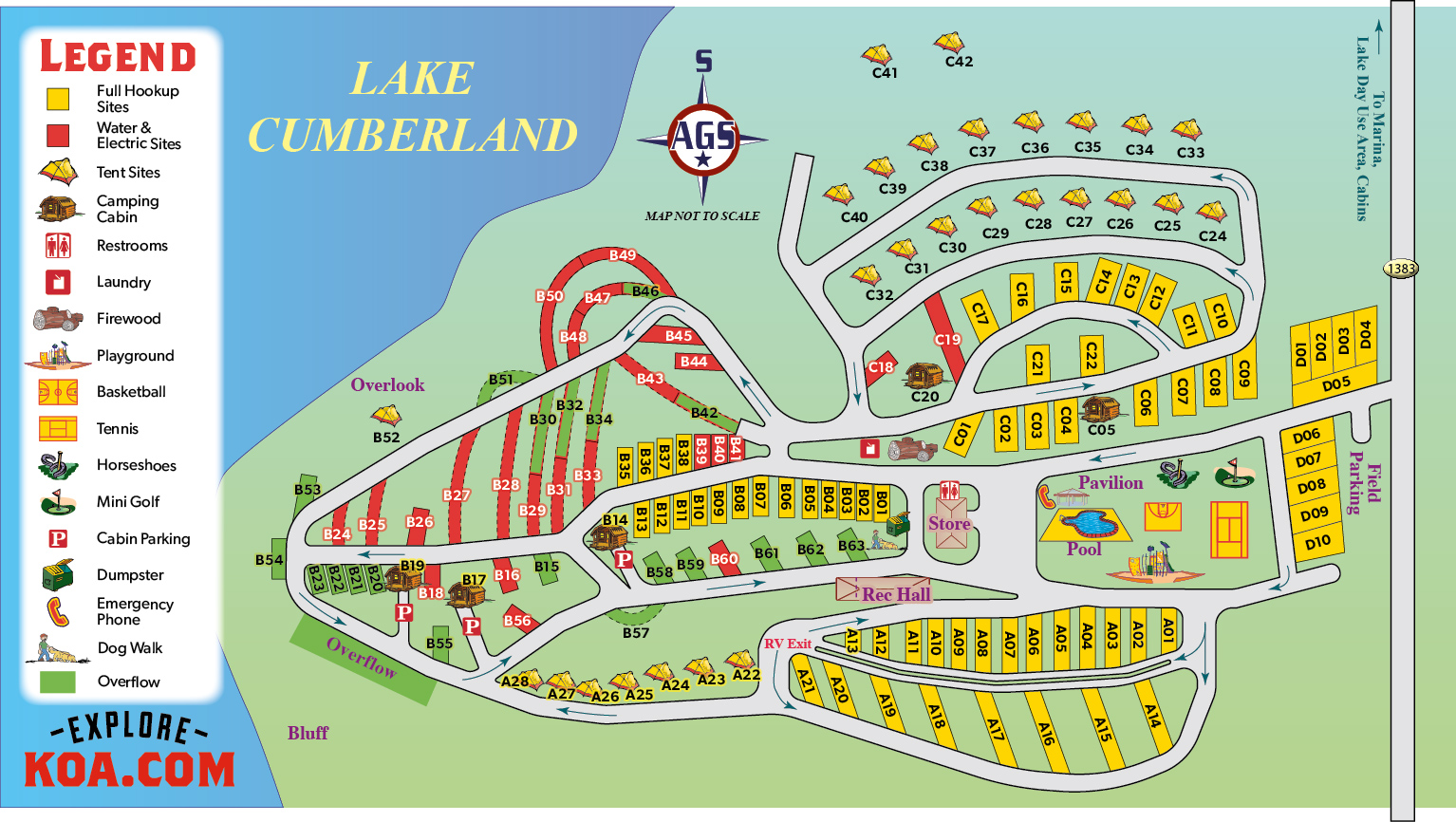 Russell Springs Kentucky Campground Russell Springs Koa