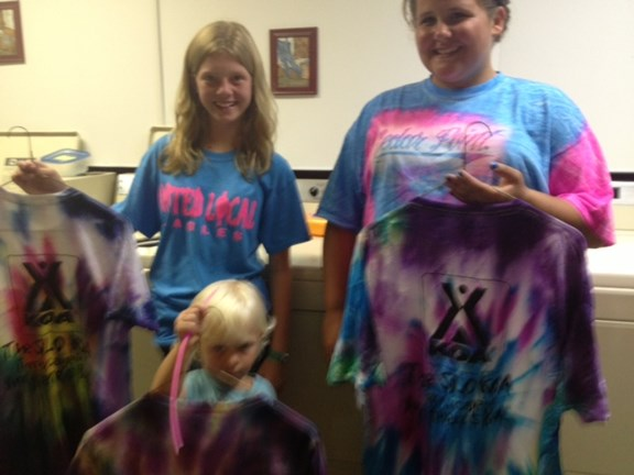Tie Dye Shirts for Sister's Three