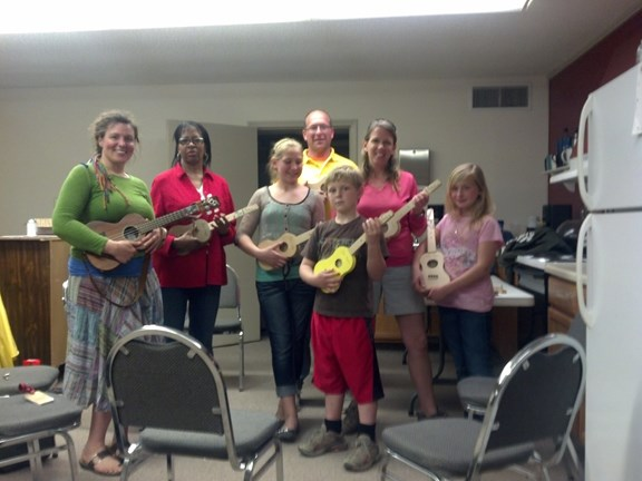Our first ukulele class