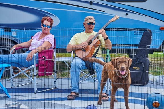 Your pup is always welcome on your RV site and we have lots of pet-friendly accommodations.