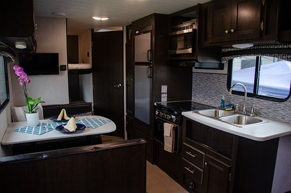 RV rentals come with full kitchens.