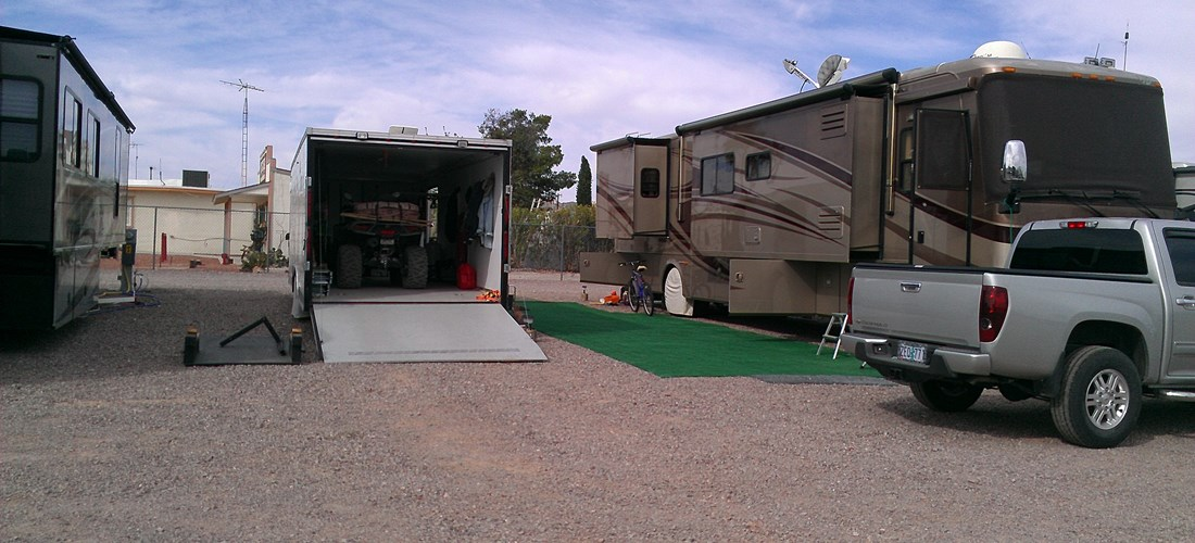 Plenty of space for large trailers, ATVs and other vehicles.