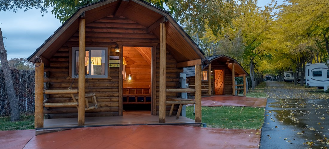 Cabins with Patios