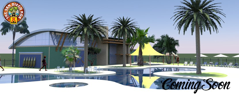 Coming Soon New Resort Pool at San Diego KOA Campground