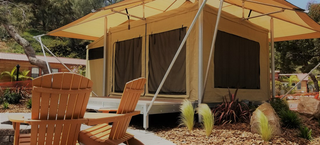 Our brand new Eco-Tents are great for your Glamping get-a-way!