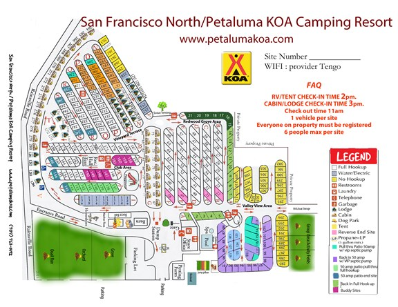 Welcome to the San Francisco North / Petaluma KOA
