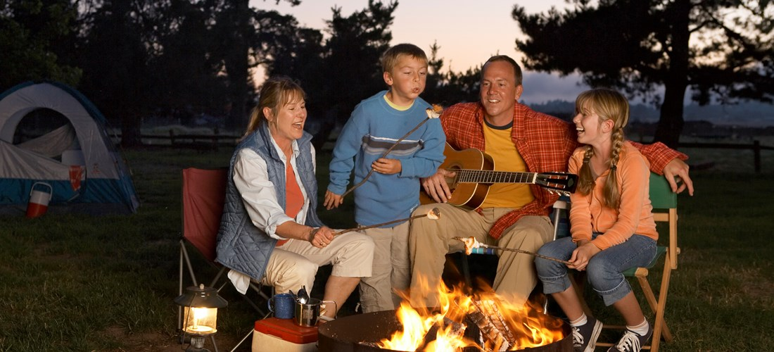 Enjoy a great campfire with family and friends.