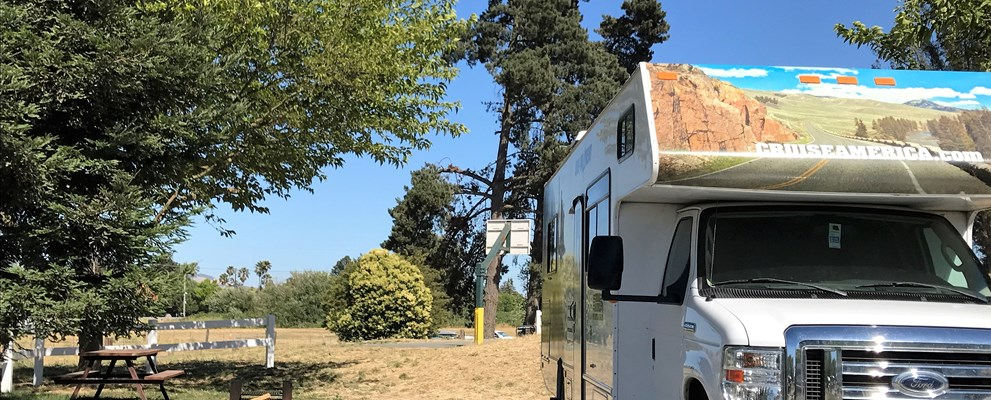 RV back in sites near the playground have a picnic table, fire ring, free wifi, and septic hookup.  Sites 1-5 back to the pool and are convenient to all the fun activities we have to offer.