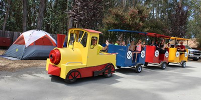 Take a Ride on the KOA Express Fun Train