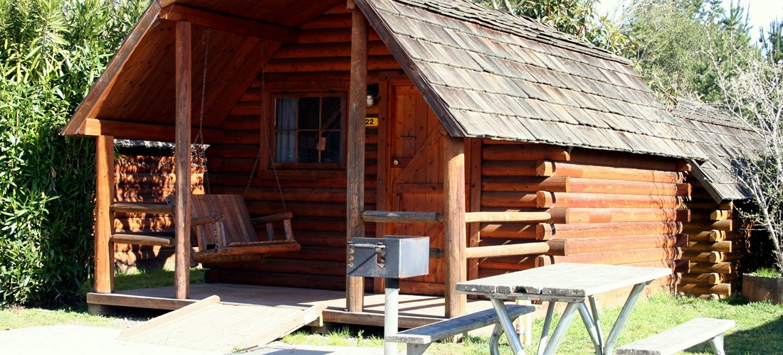 You don't have to rough it in one of our 1 room Camping Cabins.
