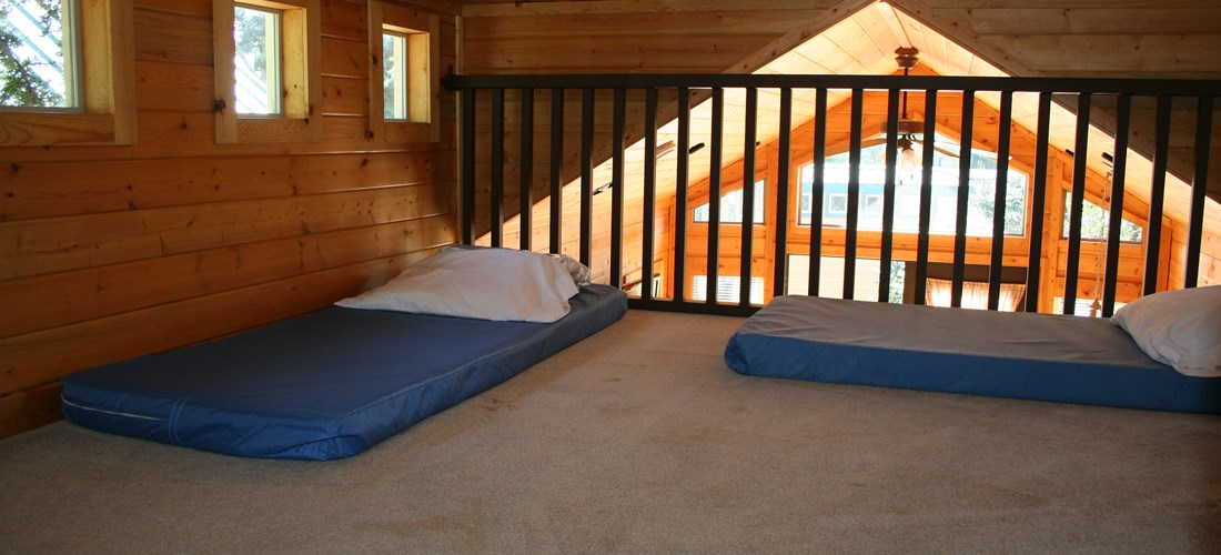 The loft is perfect for the little ones! Safety Railing will let them see out without any worries!