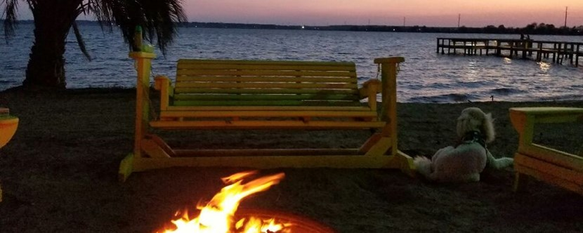 Santee Lakes Community Fire Pit on the Waterfront