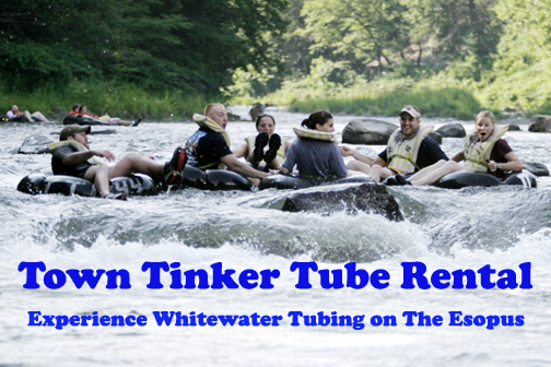 Tubing on Esopus Creek