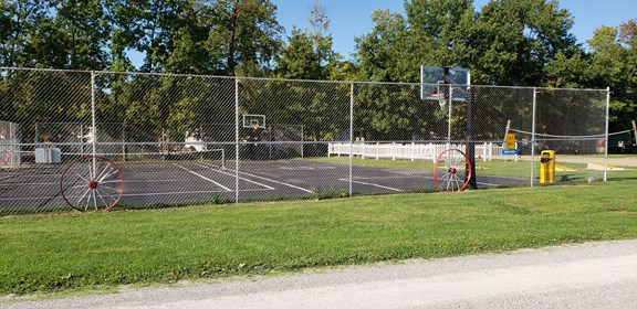 Paved Basketball & Tennis Courts