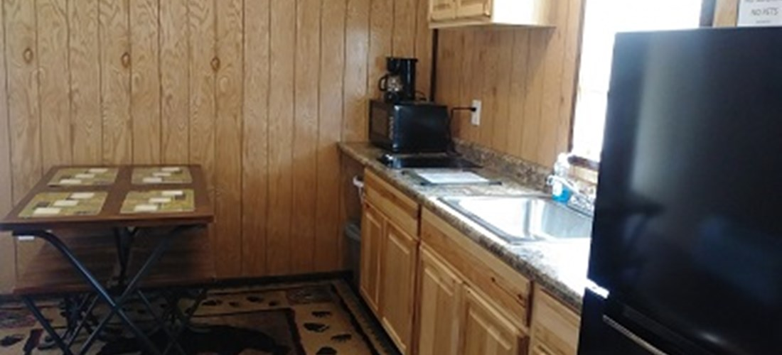 Deluxe Cabin kitchenette