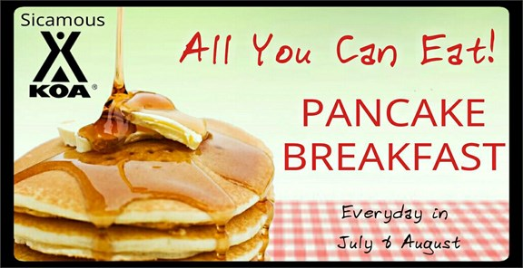 All you can eat Pancake Breakfast $$