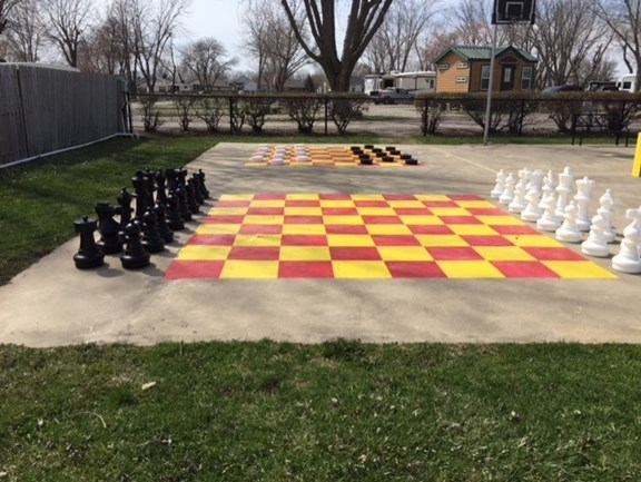 Life-Sized Chess and Checkers
