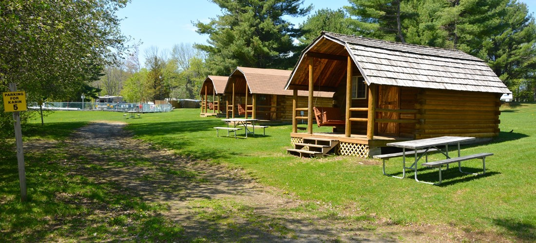 Camping Cabins near pool