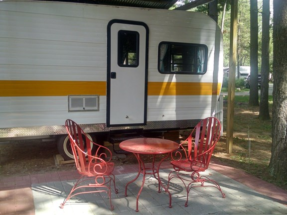 Meet Louise, our vintage trailer