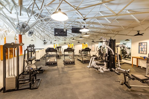 Activity Central, the Commons, featuring our fitness center