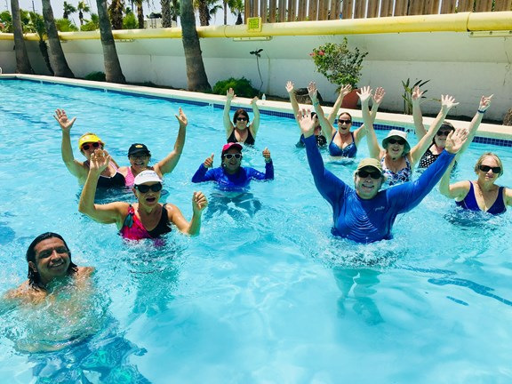Have fun & stay fit with floor and pool aerobics