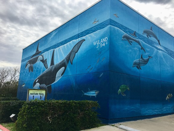 Wyland's Whaling Wall mural
