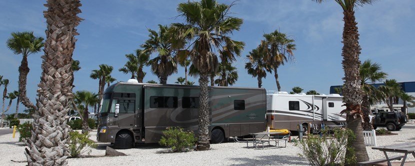 Beautiful Pull-Thru RV Site with KOA Patio®.