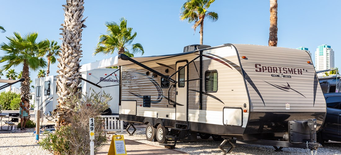 rv back in with koa patio NEW 2