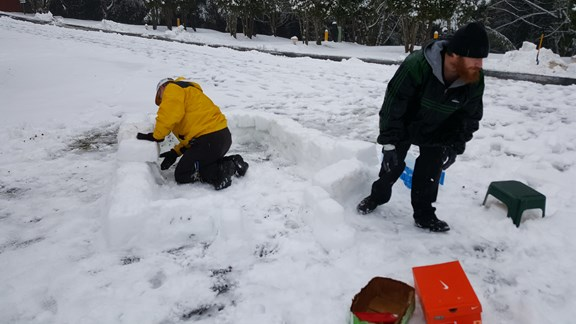 making of an igloo