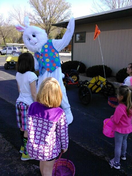 The Easter Bunny Parade at the Hunting Grounds