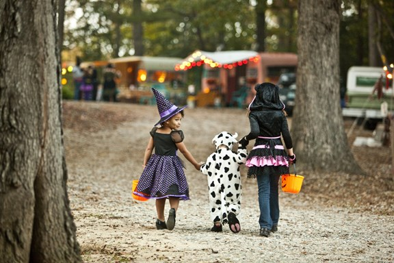 Trick-or-Treating at the St Louis KOA