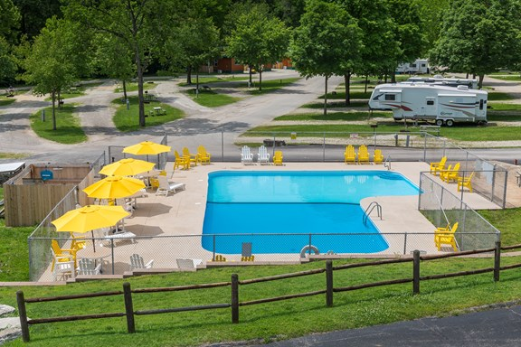 Enjoy our new pool furniture & heated pool