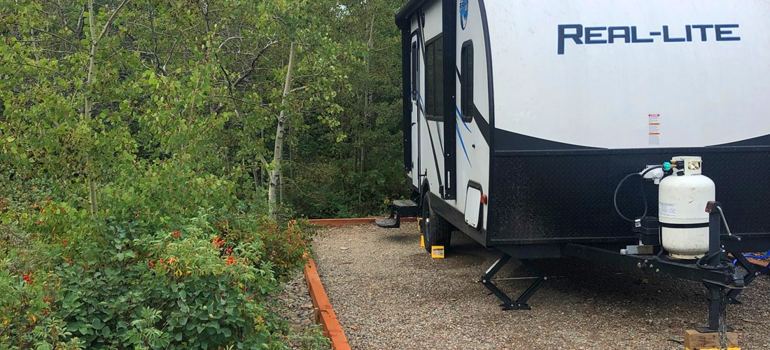 back in water/electric sites with great views ideal for small RV setups