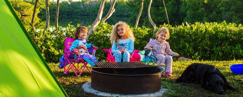 Kids will love making s'mores around the fire