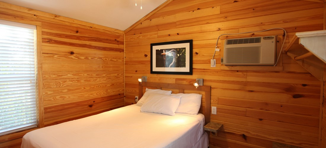 This cabin offers 2 bedrooms with queen beds.  Perfect for couples traveling together.