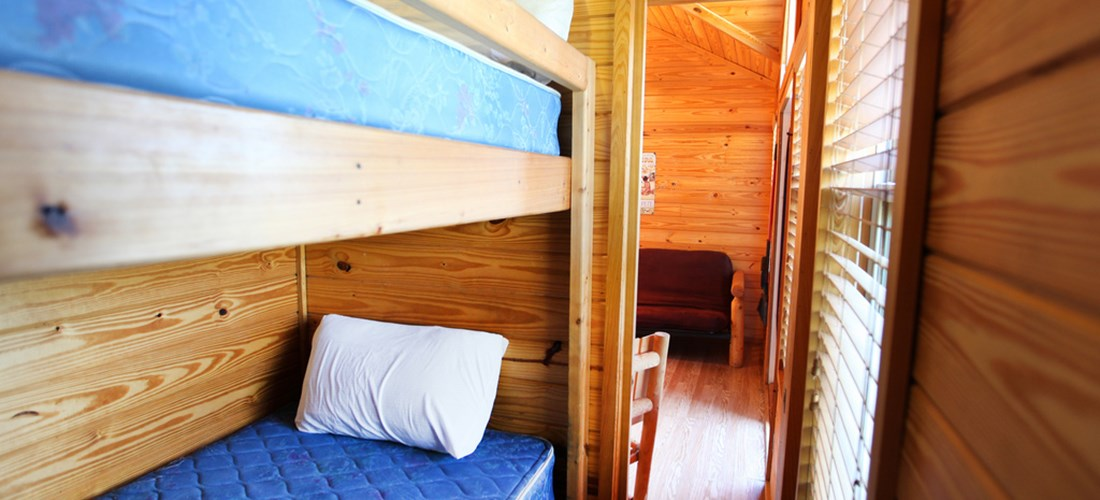 The kids will love the bunk beds.