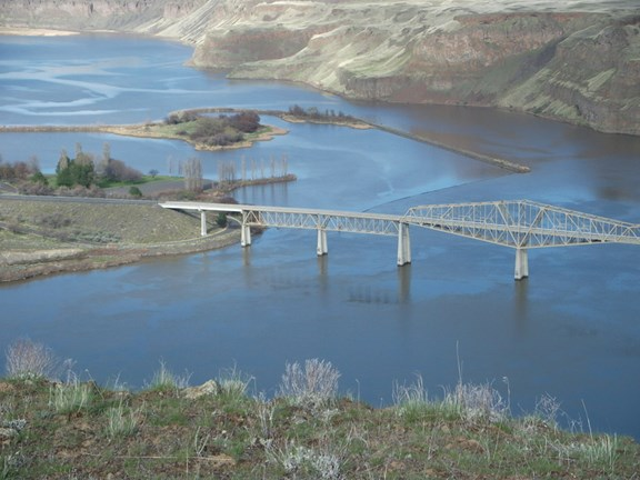 Confluence of the Palouse and Snake River